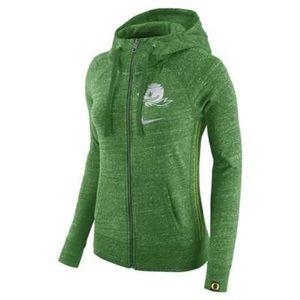 Nike Heathered Oregon Ducks Full-Zip Hoodie